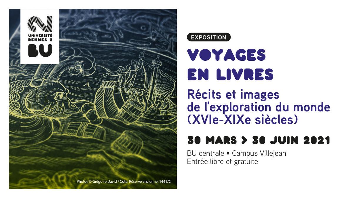 Affiche de l'exposition Voyages en livres